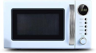 Estilo retro encimera horno de microondas -Memoria de la placa giratoria, encimera horno de microondas con el sonido de encendido/apagado (Color: Rojo) (Color : Blue)