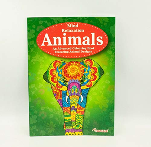 Anti-Stress-Ausmalbuch mit Tieren, zur Entspannung und Farbtherapie für Erwachsene. Animals
