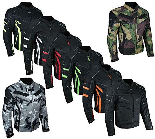 HEYBERRY kurze Textil Motorrad Jacke Motorradjacke Schwarz Neon Gr. L