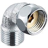 SANEI 配管部品 ナット付ベンリーカンエルボ 袋ナット回転式 パッキン付き G1/2 T204-13