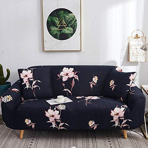 Funda elástica para sofá, Fundas elásticas Modernas, Fundas para sofá para Sala de Estar, Silla, Funda para sofá, Fundas para Muebles, A4, 2 plazas