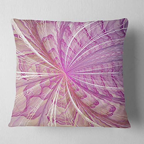 Designart Symmetrical Light Purple Fractal Flower Floral Throw Cushion Pillow Cover For Living Room Sofa 26 In X 26 In Shefinds
