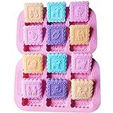 Simuer - Stampo in silicone per sapone, 6 formine, utilizzabile anche per dolci fai da te, biscotti, cioccolato