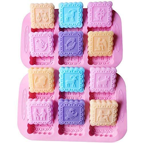SIMUER Silikon Seifenformen 6 Hohlräume Silikonform Oval Seifenform Kuchenform für Craft Seife Schimmel, Kuchen DIY Form, Biscuit Schokolade Schimmel, Ice Cube Tablett 2 Stück (Rosa)