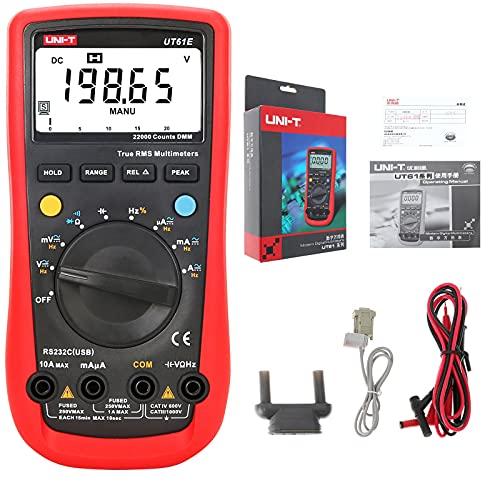 UNI-T UT61E Digital Multimeter True RMS Peak Meter PC Connect AC DC Voltage Relative Mode 22000 Counts Data Hold Auto Range