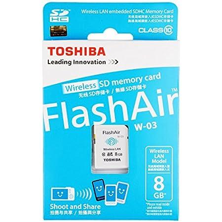 東芝 TOSHIBA 無線LAN搭載 FlashAir III Wi-Fi SDHCカード Class10 日本製 並行輸入品 (8GB)