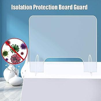 Goodde Mampara De Protección para Mostradores, Mampara Protector Mostrador Metacrilato, Protector De Acrílico Transparente, 40X40cm/16X16en: Amazon.es: Hogar