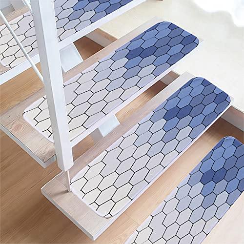 SLDAGe Almohadillas para Escaleras, 70 X 22Cm Decoración para El Hogar Autoadhesivas Antideslizante Alfombra para Escalera para Escalones Interiore para Niños, Ancianos Y Mascotas,3,15PCS