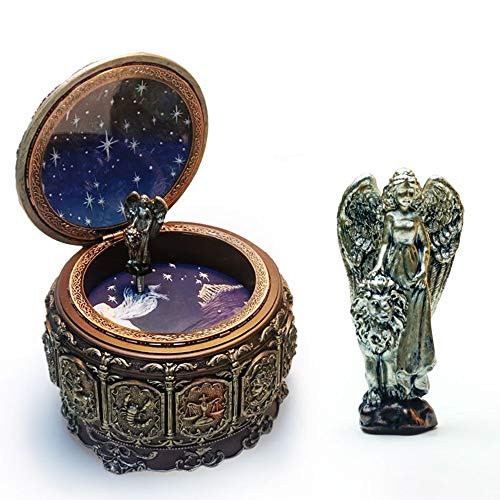 Home Decorations Twaalf sterrenbeelden Leo Music Box Kleurrijke Lighting Hars Ambachten Creative Novelty Giften Verjaardag ornamenten ZHQHYQHHX