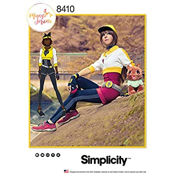 Simplicity 8410 Anime Trainer Women s Halloween and Cosplay Sewing Pattern Sizes 16-24
