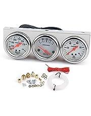 Universal 52MM Triple Gauge Volt Meter Water Temp Gauge Pers van de olie manometer Auto Mechanical Gauge