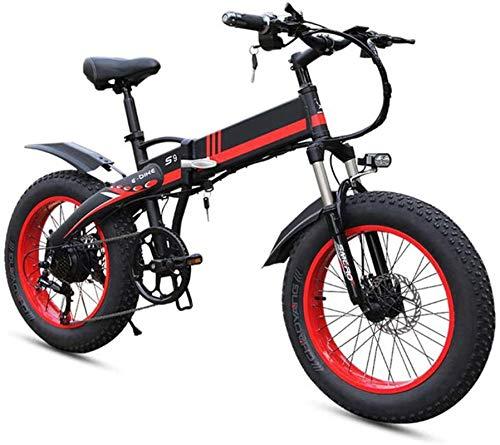 Bicicleta de montaña eléctrica, Bicicletas for adultos plegable eléctricos Comfort Bicicletas Bicicletas híbrido reclinada / Road de 20 pulgadas, a la montaña E-Bikes-7 Velocidades de redes de transpo