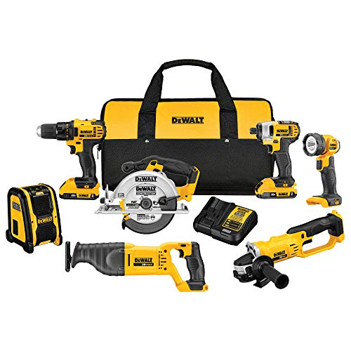 DEWALT 20V MAX Combo Kit, Compact 7-Tool (DCK720D2) - $399 at Amazon