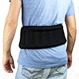 Huggaroo Wearable Microwavable Heating Pad for Back Pain and Cramps Relief, Unscented, Black
