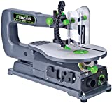 Genesis GSS160 1.2 Amp 16' Variable Speed Scroll Saw with Quick-Change System, Dust Blower, and Die-Cast Table for Left/Right Tilting