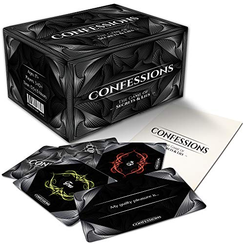 CONFESSIONS THE GAME OF SECRETS & LIES. Probably The Most Awkward Party Card Game You Will Ever Play
