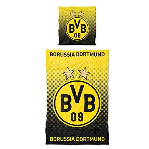 Borussia Dortmund, BVB-Bettwäsche Punkteverlauf, Gelb, Schwarz, 135x200cm