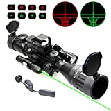 Best Rifle Scopes - UUQ 4-16x50 AO Rifle Scope Red/Green Illuminated Range Review