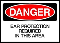 Ear Protection is Required in This Area Danger ティンサイン ポスター ン サイン プレート ブリキ看板 ホーム バーために