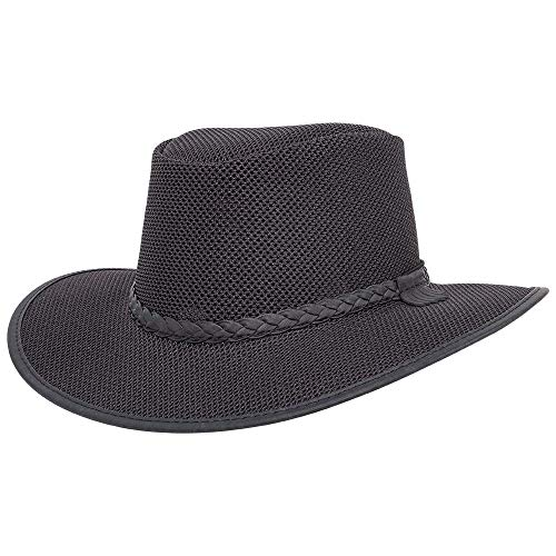 American Hat Makers Soaker Mesh Sun Hat for Men and Women — Midnight, X-Large