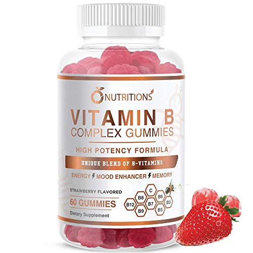 O Nutritions Vitamin B Complex Vegan Gummies with Vitamin B12, B7 as Biotin , B6, B3 as Niacin, B5, B6, B8, B9 as Folate for Stress, Energy and Healthy Immune System-Prenatal Vitamins (1 Pack)
