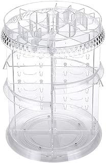 透明コスメボックス メイク収納 化粧品収納 タワー型 化粧品収納 360度回転式 ジュエリー化粧品香水ディスプレイスタンドボックス メイクボックス 大容量メイクアップ収納用ドレッサー 女性用