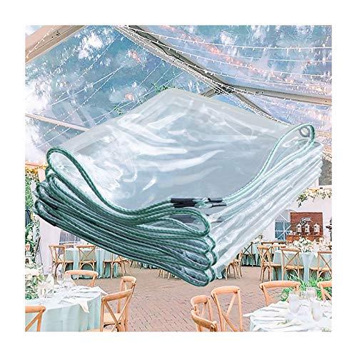 LWZ Klare Plane Abdeckung Hochleistungs wasserdicht, Mehrzweckplanen mit Ösen und verstärkten Kanten, Allwetterplane für Außenschutz, Dachabdeckung, Gartenschirm