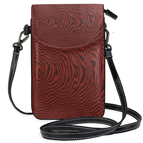 XCNGG Wood Wooden Grain Cell Phone Purse Wallet for Women Girl Small Crossbody Purse Bags