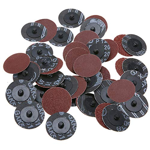 Yakamoz 40Pcs 2 Inch Roloc Sanding Disc Mixed Pack Roll Lock Sanding and Grinding Discs Polishing Abrasives Tool 24/60/ 120/240 Grit
