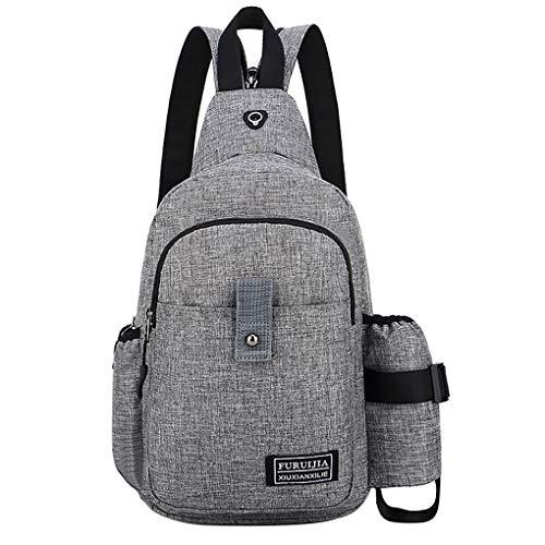 Brusttasche für Herren/Skxinn Umhängetasche Schultertasche Cross Bag Schleuder Tasche Sling Rucksack Multipurpose Daypack,Outdoor Sport Running Casual Umhängetasche(K)