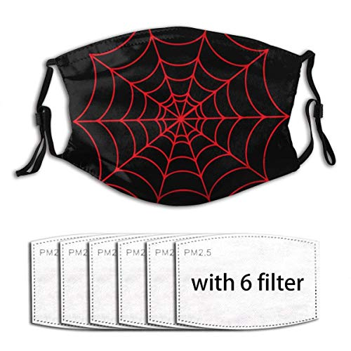 Spide Superhero Miles Morales Face Mask Bandana Scarf 6 Filters Reusable Protection Kids Women Girl Boy Outdoor Running