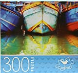 Cardinal Jigsaw Puzzles for Adults Kids 300 Piece 14 in. x 11 in. Fishing Boats