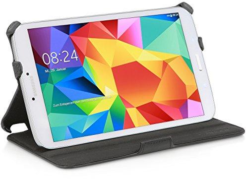 StilGut UltraSlim Hülle, Tasche mit Stand- & Präsentationsfunktion kompatibel mit Samsung Galaxy Tab 4 8.0, schwarz