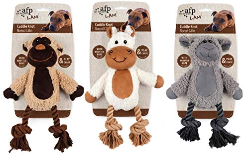 All for Paws Cuddle Knotted Rope mit Lammfell