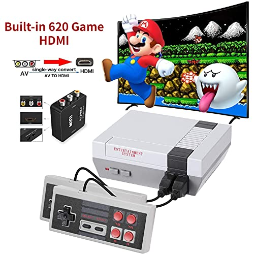 620 Retro Game Console,Classic Mini NES Game System with Build-in...
