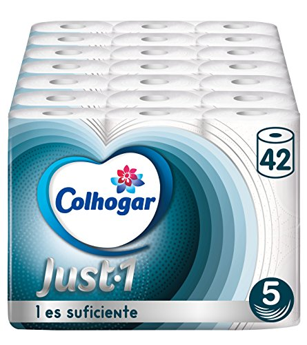 Colcasa Toilettenpapier Just 1, 5 Lagen, 42 Rollen