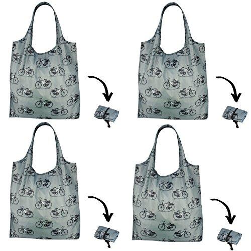 Paquete de 4re-UZ Lifestyle compradores plegable reutilizable de la compra bolsas de...
