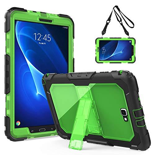 TiMOVO Samsung Galaxy Tab A 10.1 Funda - Shockproof Híbrido Resistente Smart Cover Case para Samsung Galaxy Tab A 10.1 Pulgada, Negro y Verde
