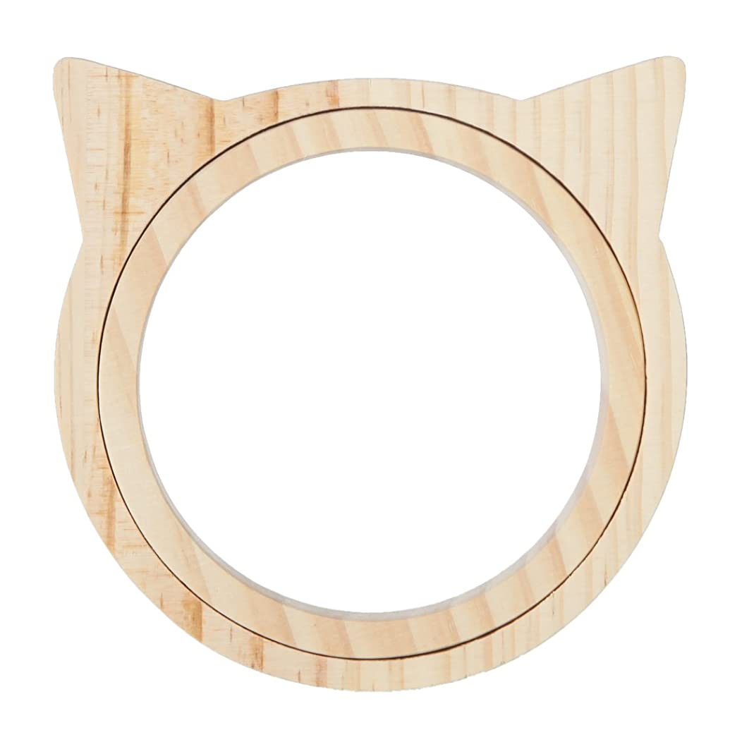 Home-X Decorative Embroidery Hoop - Cat