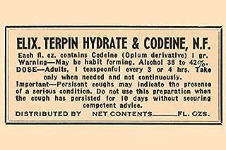 Buyenlarge 0-587-26529-9-P1218 Elixir Terpin Hydrate & Codeine, N.F Paper Poster, 12