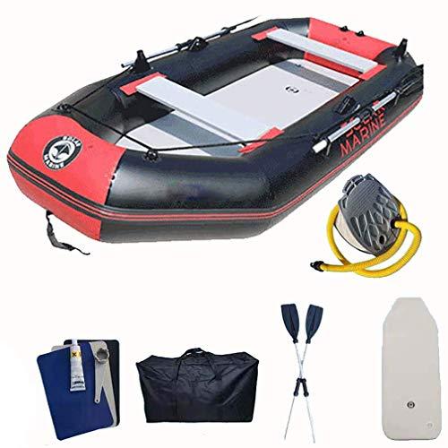 Zixin Jugend Riot Kayaks und aufblasbare Kanus mit Paddeln, for Schwimmbad Beach Play, rot schwarz, 230 * 128cm