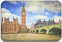 ホームデコラティブエントランスドアマット、イギリスロンドン時計塔シティビッグベン屋内/屋外フロント/バックドアマットフロアマット楽しいマジックラグ滑り止めホーム/オフィス/キッチン/ベッドルームワンサイズ-Type144-40*60cm
