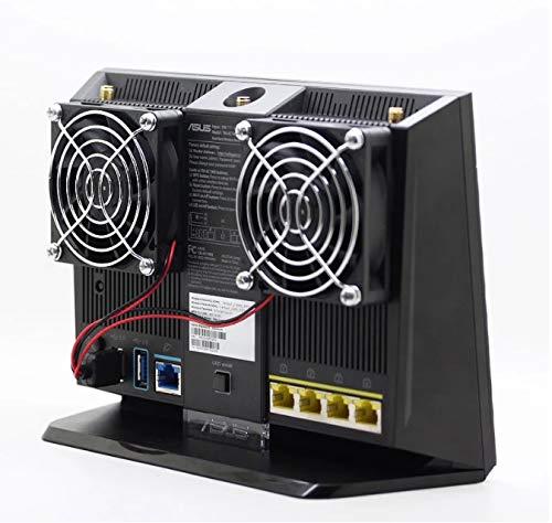 N+A Cooling Fan for RT-AC68U AC86U Tengda AC15 Router Cooler USB Cooling Fan 70x70x15mm 5V 0.2A 2100 RPM