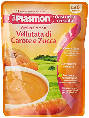 Plasmon Vellutata di Carote e Zucca, 12 x 180 g