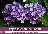 Impressionen im Garten (Wandkalender 2022 DIN A4 quer): Lichtstimmungen bringen Details zum leuchten (Monatskalender, 14 Seiten )