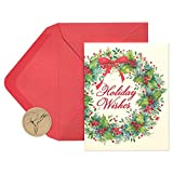 Papyrus Christmas Cards Boxed, Christmas Wreath (20-Count) (5886330)