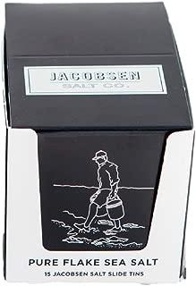 Jacobsen Salt Company Hand Harvested Pure Flake Sea Salt Slide Tins (15 Pack)