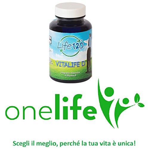 Vitalife D di Life 120 | Vitamina D Integratore Alimentare Giornaliero 100 Softgels facili da Deglutire | Distributore Esclusivo OneLife