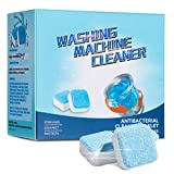 CHARMINER Solid Washing Machine Cleaner, Effervescent Tablet Washer Cleaner, Decontamination Cleaning Detergent with Triple Decontamination for Washer Bath Room Kitchen (12PCS)
