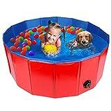 HALOVIE Piscina per Cani di Taglia Piccola e Grande Piscina Pieghevole per Bambini e Animali Domestici Piscina da Giardino Esterna per Cuccioli